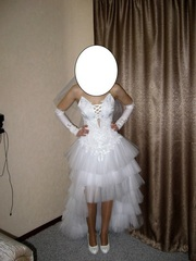 Свадебное платье с шубкой и бижутерией можно по отдельности