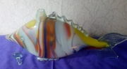 Графин в форме рыбы цветное стекло